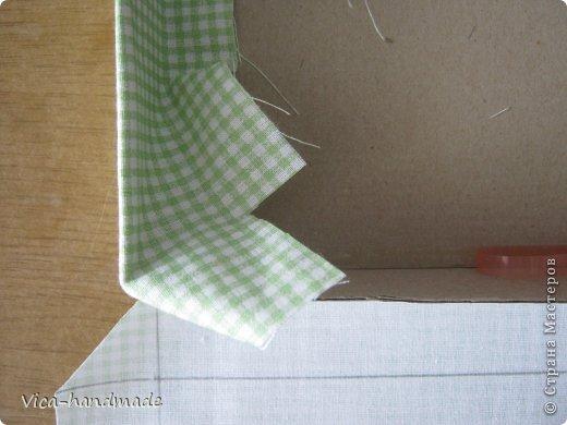 Декор предметов Мастер-класс День рождения Аппликация МК Как обтянуть коробку тканью Два варианта Бумага Картон Ленты Ткань фото 76