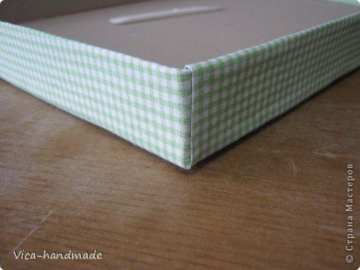 Декор предметов Мастер-класс День рождения Аппликация МК Как обтянуть коробку тканью Два варианта Бумага Картон Ленты Ткань фото 85