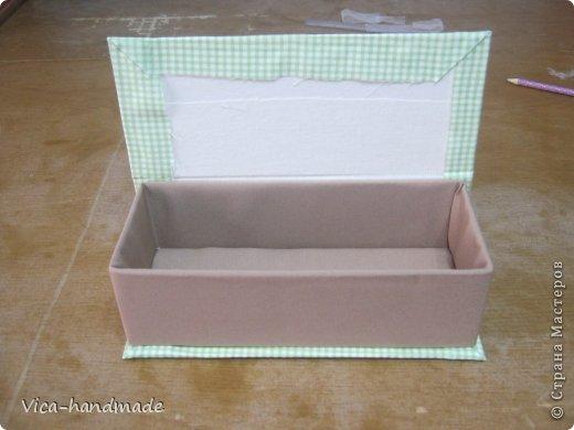 Декор предметов Мастер-класс День рождения Аппликация МК Как обтянуть коробку тканью Два варианта Бумага Картон Ленты Ткань фото 105