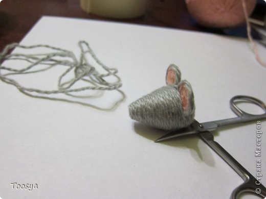 Мастер-класс Поделка изделие Моделирование конструирование Плетение МК Магнит Мышки-воришки  Материал природный Проволока Пряжа фото 17