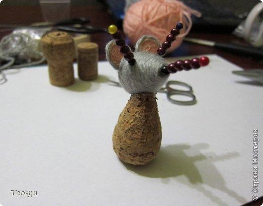 Мастер-класс Поделка изделие Моделирование конструирование Плетение МК Магнит Мышки-воришки  Материал природный Проволока Пряжа фото 21