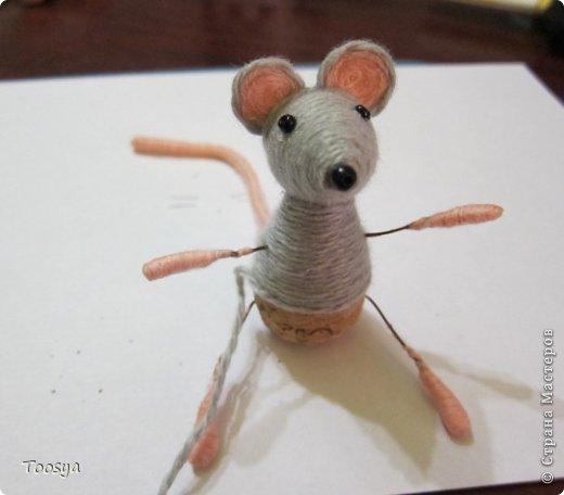 Мастер-класс Поделка изделие Моделирование конструирование Плетение МК Магнит Мышки-воришки  Материал природный Проволока Пряжа фото 30