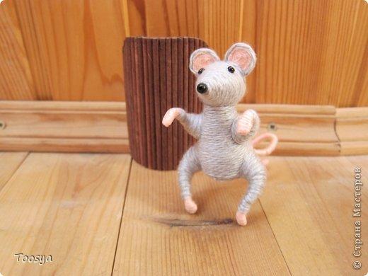 Мастер-класс Поделка изделие Моделирование конструирование Плетение МК Магнит Мышки-воришки  Материал природный Проволока Пряжа фото 33