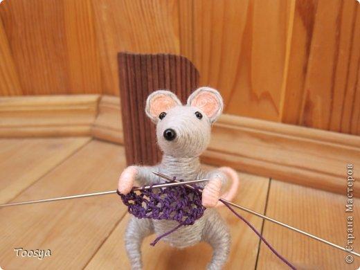 Мастер-класс Поделка изделие Моделирование конструирование Плетение МК Магнит Мышки-воришки  Материал природный Проволока Пряжа фото 35