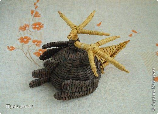 Мастер-класс Поделка изделие Плетение Сорока ворона Бумага Трубочки бумажные фото 18