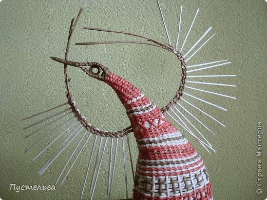 Мастер-класс Поделка изделие Плетение Пташечка Бумага Трубочки бумажные фото 11