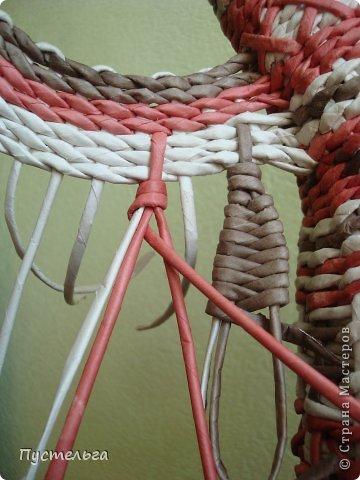 Мастер-класс Поделка изделие Плетение Пташечка Бумага Трубочки бумажные фото 12