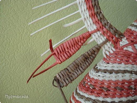 Мастер-класс Поделка изделие Плетение Пташечка Бумага Трубочки бумажные фото 13