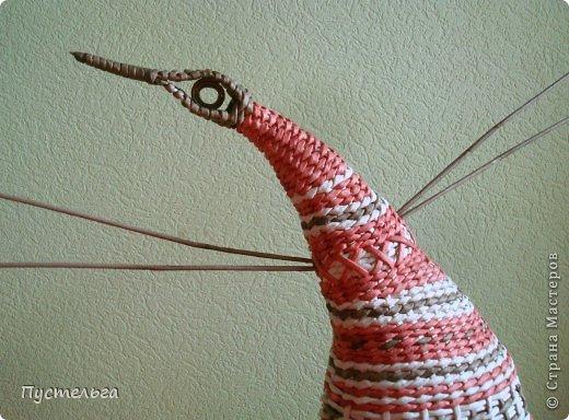 Мастер-класс Поделка изделие Плетение Пташечка Бумага Трубочки бумажные фото 9