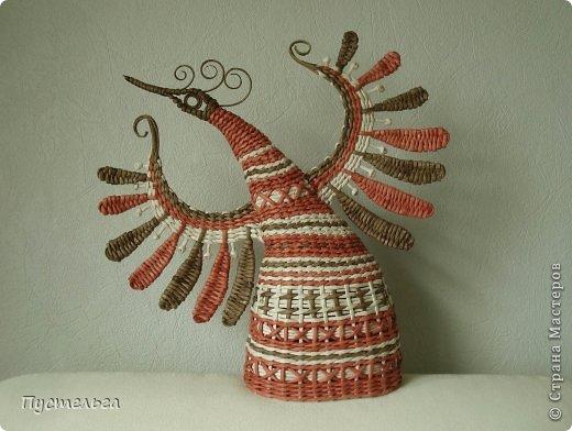 Мастер-класс Поделка изделие Плетение Пташечка Бумага Трубочки бумажные фото 1