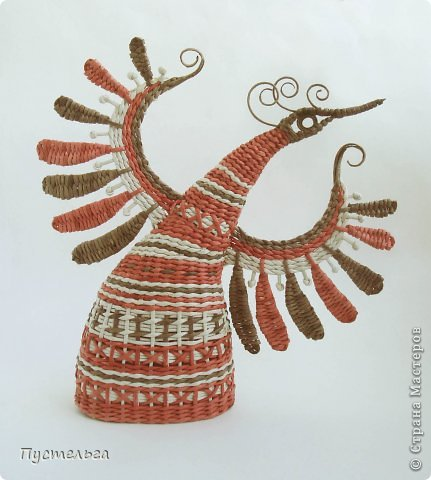 Мастер-класс Поделка изделие Плетение Пташечка Бумага Трубочки бумажные фото 16