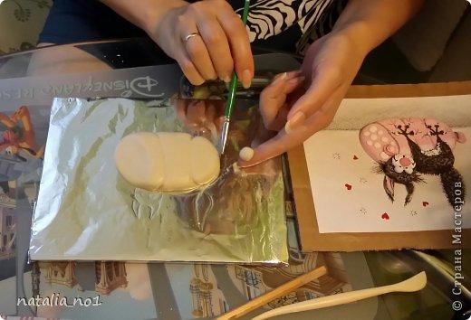 Мастер-класс Поделка изделие Лепка Кот на колбасе - Мастер класс Тесто соленое фото 8