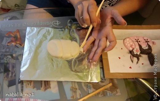 Мастер-класс Поделка изделие Лепка Кот на колбасе - Мастер класс Тесто соленое фото 9
