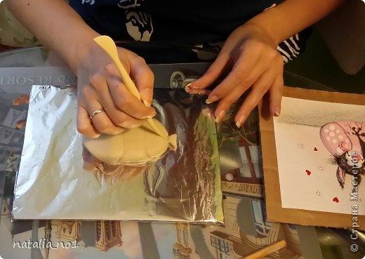 Мастер-класс Поделка изделие Лепка Кот на колбасе - Мастер класс Тесто соленое фото 11