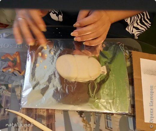 Мастер-класс Поделка изделие Лепка Кот на колбасе - Мастер класс Тесто соленое фото 14