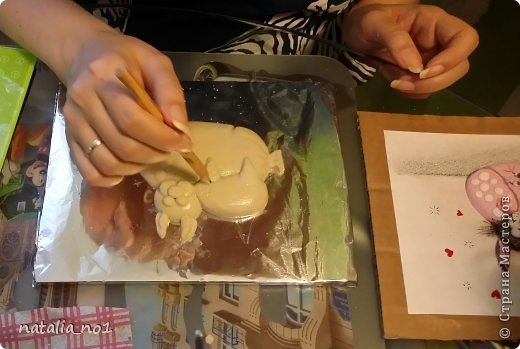 Мастер-класс Поделка изделие Лепка Кот на колбасе - Мастер класс Тесто соленое фото 33