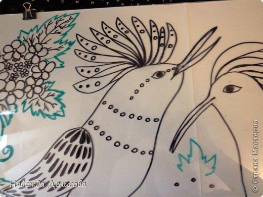 Картина панно рисунок Мастер-класс Аппликация из пластилина + обратная Пластилиновая рапсодия Пластилин фото 9