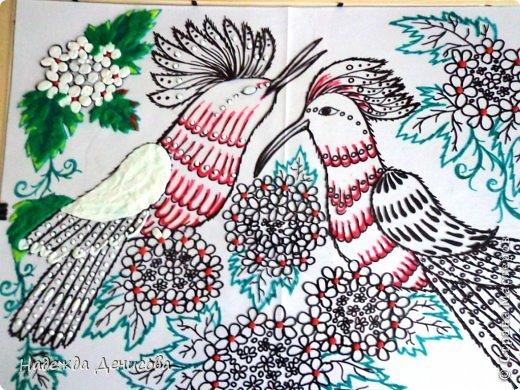 Картина панно рисунок Мастер-класс Аппликация из пластилина + обратная Пластилиновая рапсодия Пластилин фото 20