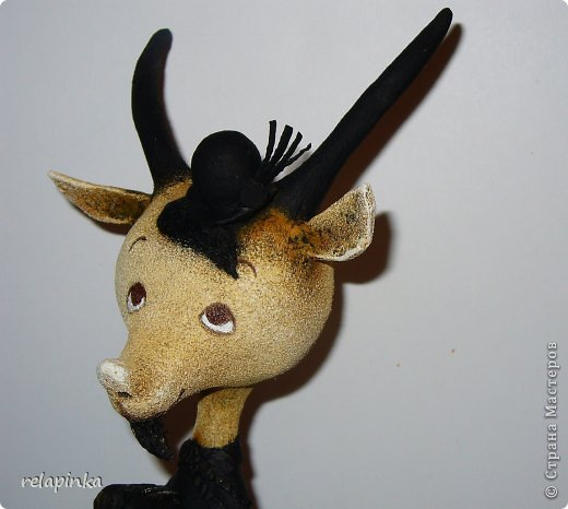 Игрушка Мастер-класс Скульптура Новый год Папье-маше Тирольский козлик Бумага фото 18