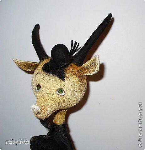 Игрушка Мастер-класс Скульптура Новый год Папье-маше Тирольский козлик Бумага фото 19