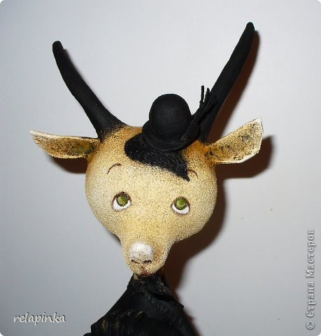 Игрушка Мастер-класс Скульптура Новый год Папье-маше Тирольский козлик Бумага фото 21