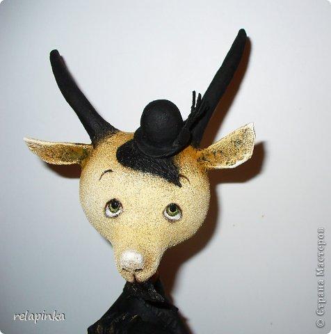 Игрушка Мастер-класс Скульптура Новый год Папье-маше Тирольский козлик Бумага фото 22