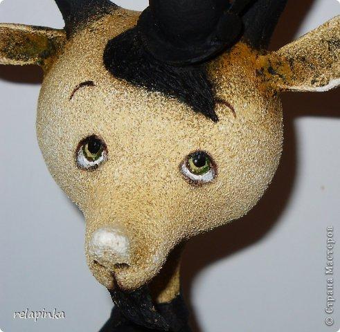 Игрушка Мастер-класс Скульптура Новый год Папье-маше Тирольский козлик Бумага фото 23