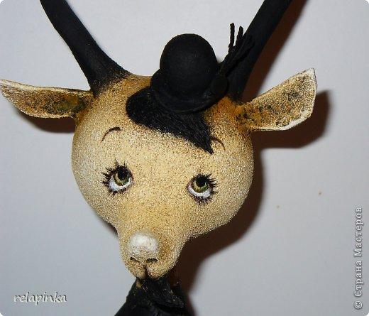 Игрушка Мастер-класс Скульптура Новый год Папье-маше Тирольский козлик Бумага фото 24