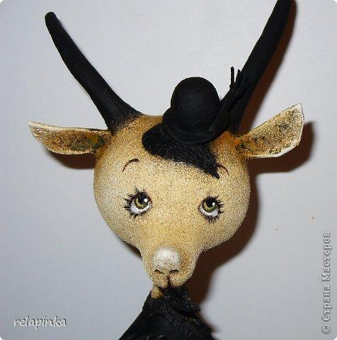 Игрушка Мастер-класс Скульптура Новый год Папье-маше Тирольский козлик Бумага фото 25