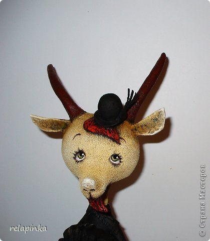 Игрушка Мастер-класс Скульптура Новый год Папье-маше Тирольский козлик Бумага фото 27