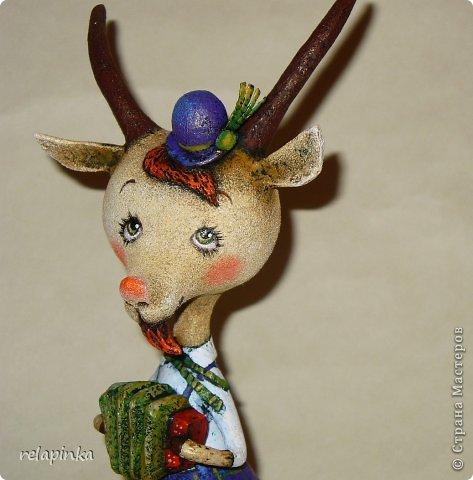Игрушка Мастер-класс Скульптура Новый год Папье-маше Тирольский козлик Бумага фото 38