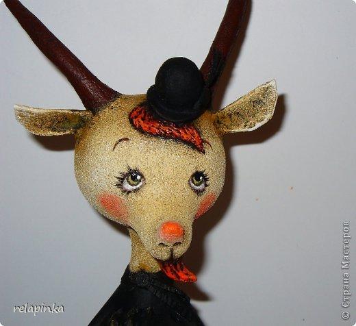 Игрушка Мастер-класс Скульптура Новый год Папье-маше Тирольский козлик Бумага фото 28