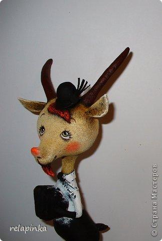 Игрушка Мастер-класс Скульптура Новый год Папье-маше Тирольский козлик Бумага фото 29