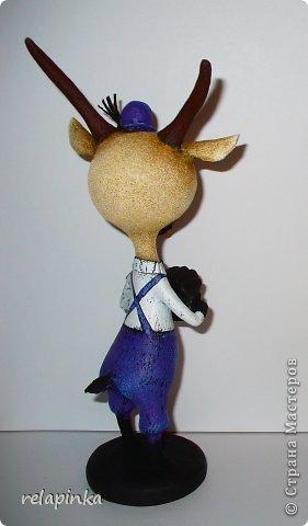 Игрушка Мастер-класс Скульптура Новый год Папье-маше Тирольский козлик Бумага фото 30