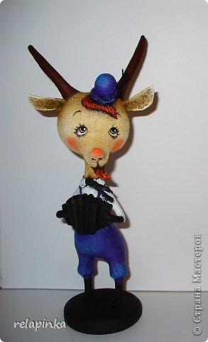 Игрушка Мастер-класс Скульптура Новый год Папье-маше Тирольский козлик Бумага фото 31