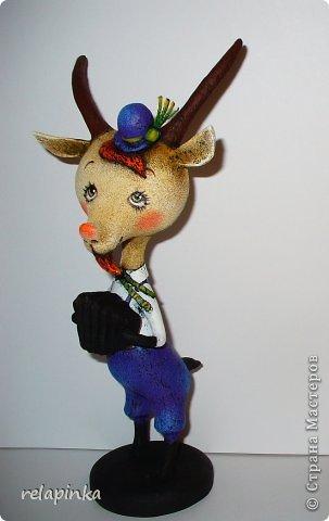Игрушка Мастер-класс Скульптура Новый год Папье-маше Тирольский козлик Бумага фото 32