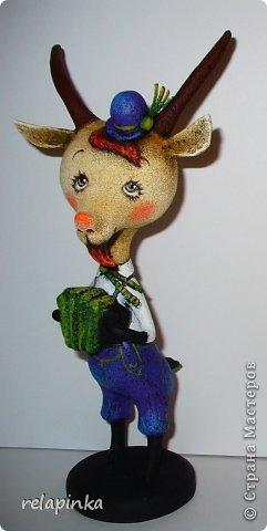 Игрушка Мастер-класс Скульптура Новый год Папье-маше Тирольский козлик Бумага фото 33