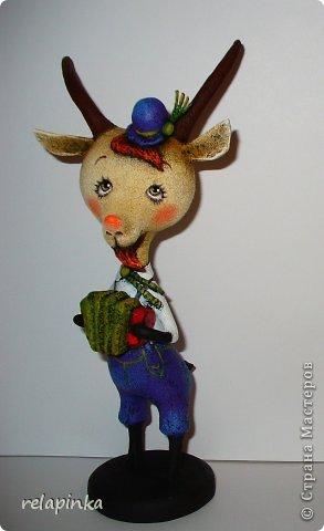 Игрушка Мастер-класс Скульптура Новый год Папье-маше Тирольский козлик Бумага фото 34