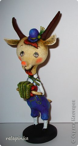 Игрушка Мастер-класс Скульптура Новый год Папье-маше Тирольский козлик Бумага фото 35
