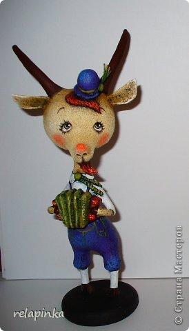 Игрушка Мастер-класс Скульптура Новый год Папье-маше Тирольский козлик Бумага фото 36