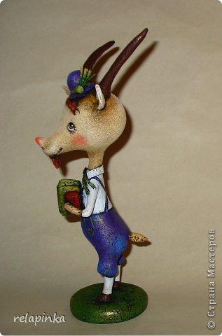 Игрушка Мастер-класс Скульптура Новый год Папье-маше Тирольский козлик Бумага фото 39