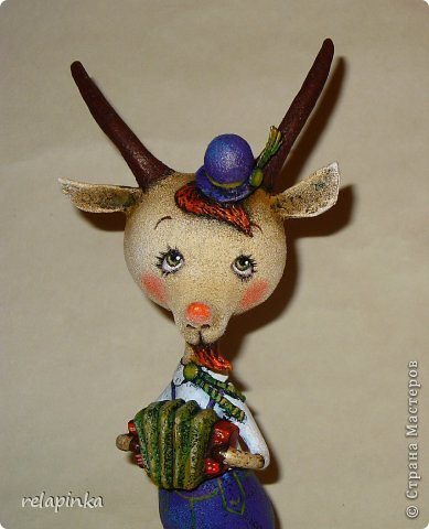 Игрушка Мастер-класс Скульптура Новый год Папье-маше Тирольский козлик Бумага фото 40