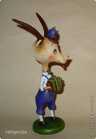 Игрушка Мастер-класс Скульптура Новый год Папье-маше Тирольский козлик Бумага фото 41