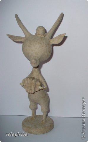 Игрушка Мастер-класс Новый год Папье-маше Тирольский козлик Бумага фото 9