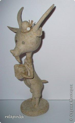 Игрушка Мастер-класс Новый год Папье-маше Тирольский козлик Бумага фото 10