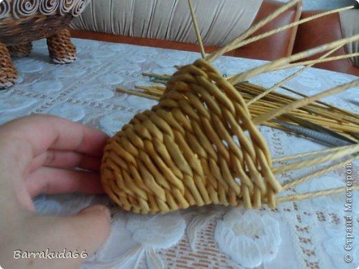 Мастер-класс Новый год Пасха Плетение Корзинка Овечка Бумага газетная Трубочки бумажные фото 8