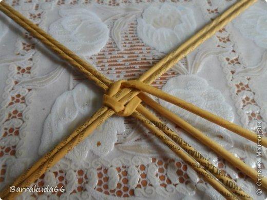 Мастер-класс Новый год Пасха Плетение Корзинка Овечка Бумага газетная Трубочки бумажные фото 6