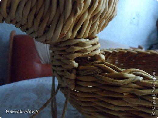 Мастер-класс Новый год Пасха Плетение Корзинка Овечка Бумага газетная Трубочки бумажные фото 16