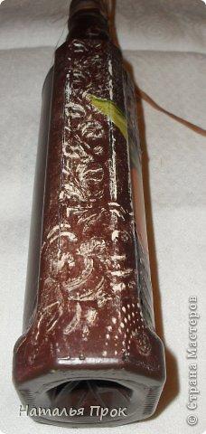 Декор предметов День рождения Декупаж Бутылочка Апельсиновый нектар Стекло фото 2