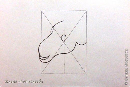 Мастер-класс Урок рисования Рисование и живопись Рисуем символ 2015 года МК Бумага фото 14
